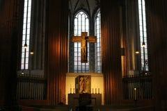 Altare nella st Marien della chiesa in vasca di tintura del ¼ di LÃ Immagine Stock Libera da Diritti