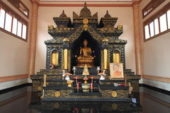 Altare nero di Budha Immagini Stock