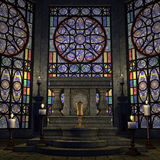Altare o sanctum arcaico in una regolazione di fantasia Immagine Stock Libera da Diritti