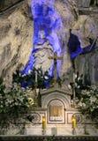 Altare och staty av Santa Rosalia, palermo Arkivbilder