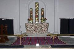 Altare på kyrkan för St John ` s, Dalhousie, Himachal Pradesh, Indien Royaltyfria Bilder