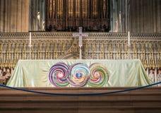 Altare på den York domkyrkan (domkyrkan) Royaltyfria Foton