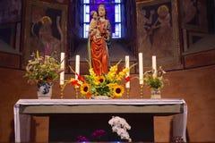 Altare per Maria Fotografie Stock