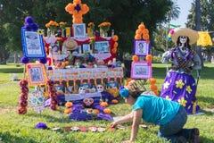 Altare per ricordare i morti durante il giorno dei morti Fotografie Stock