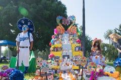 Altare per ricordare i morti durante il giorno dei morti Fotografia Stock Libera da Diritti