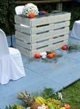 Altare per una cerimonia di nozze civile all'aperto Immagini Stock Libere da Diritti