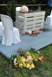 Altare per una cerimonia di nozze civile all'aperto Fotografia Stock Libera da Diritti