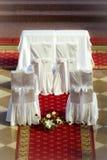 Altare prima della cerimonia di cerimonia nuziale Fotografia Stock Libera da Diritti