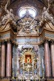 Altare principale in Basilica di San Petronio a Bologna, Italia Fotografia Stock