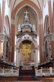 Altare principale in Basilica di San Petronio a Bologna, Italia Immagine Stock Libera da Diritti