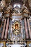 Altare principale in Basilica di San Petronio a Bologna, Italia Immagini Stock