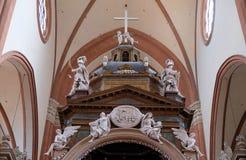 Altare principale in Basilica di San Petronio a Bologna, Italia Fotografia Stock Libera da Diritti