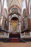 Altare principale in Basilica di San Petronio a Bologna, Italia Fotografie Stock