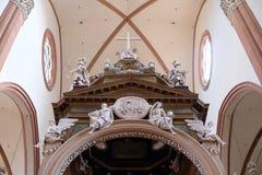 Altare principale in Basilica di San Petronio a Bologna, Italia Immagini Stock Libere da Diritti