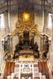Altare principale in basilica St Peter a Vaticano Immagini Stock Libere da Diritti