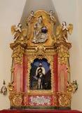 Altare principale in cappella del san Roch, Zagabria Immagine Stock