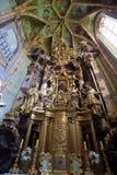 Altare principale, chiesa dell'immacolata concezione di vergine Maria in Lepoglava, Croazia Fotografie Stock Libere da Diritti