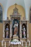Altare principale in chiesa di Saint Joseph in Sisljavic, Croazia Fotografia Stock Libera da Diritti