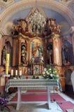 Altare principale in chiesa di San Martino in Martinska Ves, Croazia Immagine Stock
