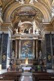 Altare principale in chiesa Gesu e Maria a Roma Fotografie Stock