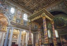 Altare principale della basilica di Santa Maria Maggiore a Roma Fotografia Stock Libera da Diritti