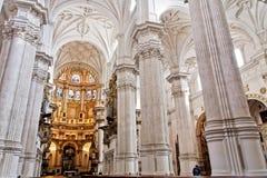 Altare principale della cattedrale a Granada, Spagna Fotografia Stock