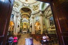 Altare principale della chiesa barrocco Santa Maria della Vita Immagine Stock Libera da Diritti