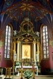 Altare principale della chiesa della cattedrale in Bydgoszcz, Polonia Fotografie Stock