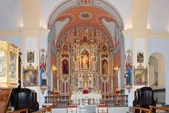 Altare principale della chiesa di Santiago, Arboleas Immagine Stock Libera da Diritti