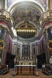 Altare principale della st Pauls Cathedral in Mdina, Malta Fotografia Stock Libera da Diritti