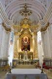 Altare principale nella cattedrale di presupposto, Kalocsa, Ungheria Fotografia Stock Libera da Diritti