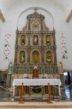 Altare principale nella cattedrale di San Gervasio a Valladolid, Messico Fotografia Stock