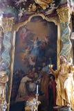 Altare principale nella chiesa del monastero di St John in Ursberg, Germania Immagine Stock Libera da Diritti