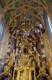 Altare principale nella chiesa dell'immacolata concezione in Lepoglava, Croazia Immagine Stock
