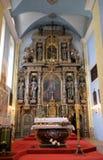 Altare principale nella chiesa della st Catherine di Alessandria d'Egitto in Krapina, Croazia Fotografie Stock Libere da Diritti
