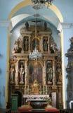 Altare principale nella chiesa della st Catherine di Alessandria d'Egitto in Krapina, Croazia Fotografia Stock
