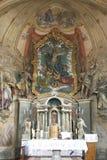 Altare principale nella chiesa di parrocchia del presupposto in Na Muri, Croazia di Marija Immagine Stock