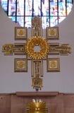 Altare principale nella chiesa di Saint Lawrence in Kleinostheim, Germania Immagine Stock Libera da Diritti