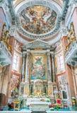 Altare principale nella chiesa di San Giacomo a Augusta, a Roma, l'Italia Fotografia Stock Libera da Diritti