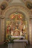 Altare principale nella chiesa di Vitus dei san in Ozalj, Croazia Fotografie Stock Libere da Diritti