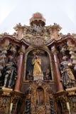 Altare principale nella chiesa Leonard di Noblac in Kotari, Croazia Fotografie Stock Libere da Diritti