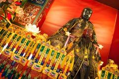 Altare principale in Pak Tai Temple, Wan Chai, Hong Kong Fotografie Stock