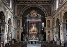 Altare principale San Lorenzo di Lucina, Roma, Italia Immagini Stock Libere da Diritti