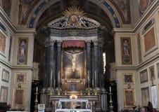 Altare principale San Lorenzo di Lucina, Roma, Italia Immagine Stock Libera da Diritti