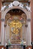 Altare principale in San Petronio Basilica a Bologna, Italia Immagine Stock