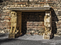 Altare romano di rovine Fotografie Stock Libere da Diritti
