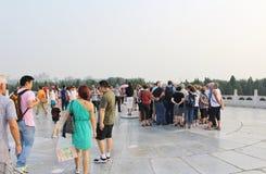 Altare rotondo a Tiantan - il tempio del cielo, Pechino Fotografie Stock