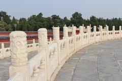 Altare rotondo a Tiantan - il tempio del cielo, Pechino Fotografia Stock Libera da Diritti