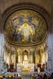 Altare in Sacre Coeur Immagini Stock Libere da Diritti