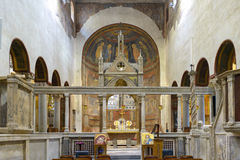 Altare Santa Maria Cosmedin Fotografia Stock Libera da Diritti